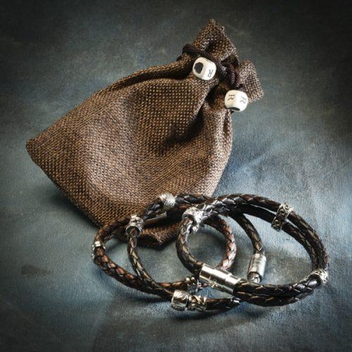Vinaband brúnt armband frá Reiðu Öndinni