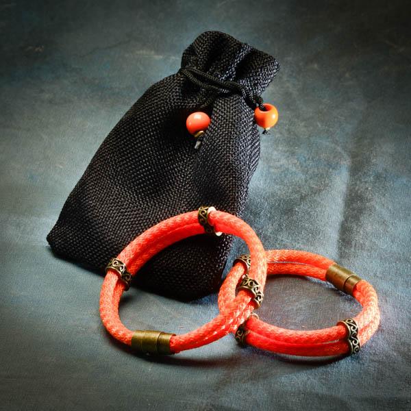 Vinaband armband orange frá Reiðu Öndinni