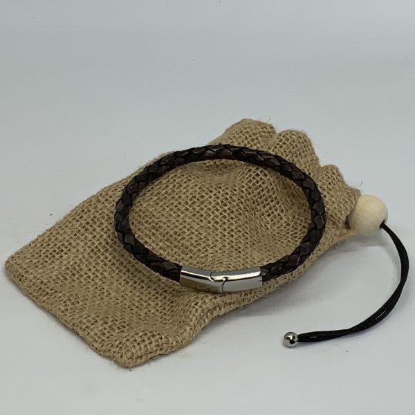 Armband brúnt frá Reiðu Öndinni